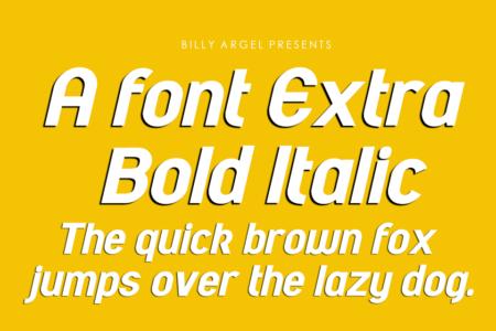 Afont Extra Bold Italic