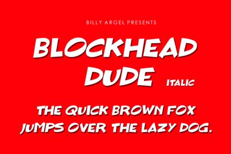 Blockhead Dude Italic