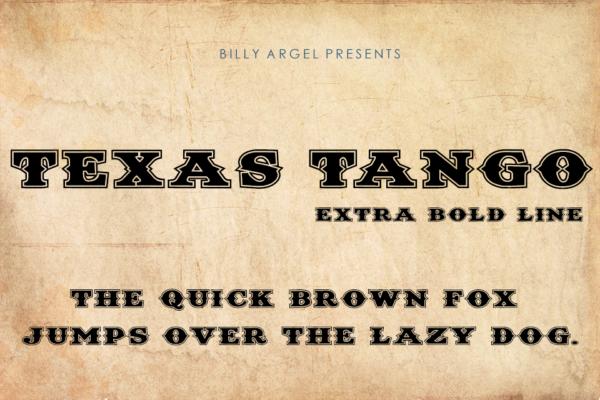 Texas Tango Extra Bold Line