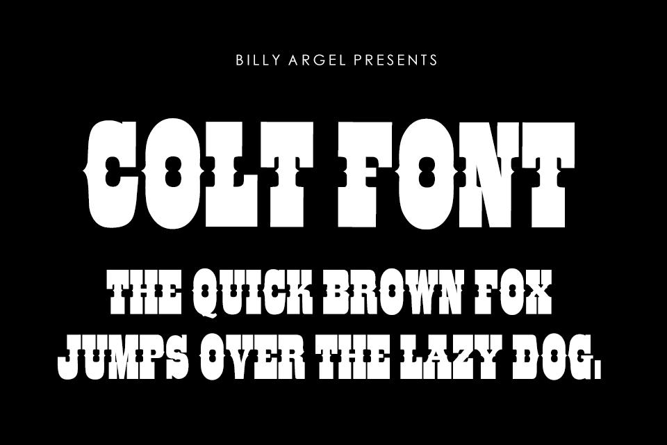 Western – Billy Argel Fonts
