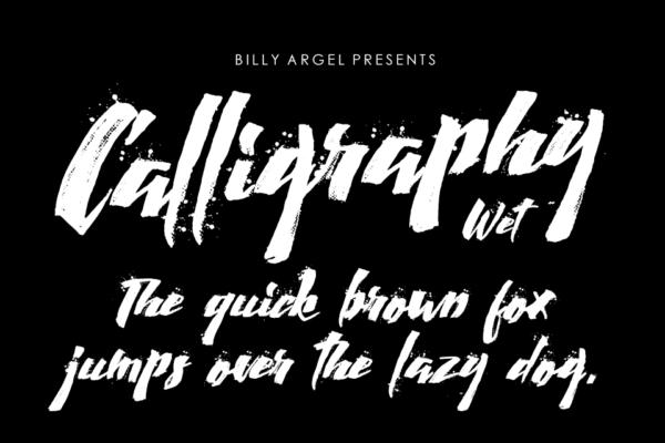 Calligraphy-Wet